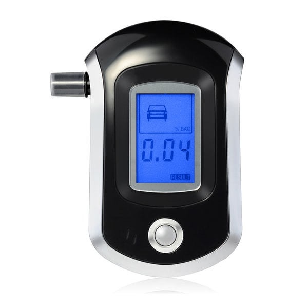 Digital Breath Alcohol Tester with Semiconductor Sensor, LCD Display, and 20 Mouthpieces