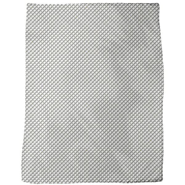 Metal Grid Fleece Blanket