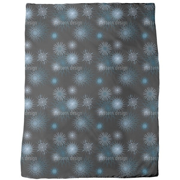 Frostwork on Midnight Fleece Blanket