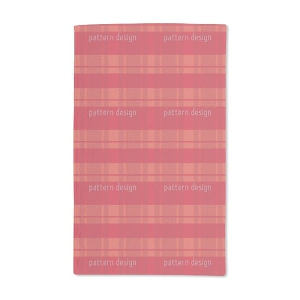 Tartan Red Hand Towel (Set of 2)