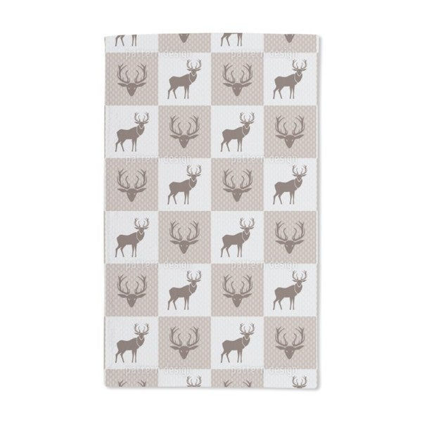 The Forest King Brown Hand Towel (Set of 2)