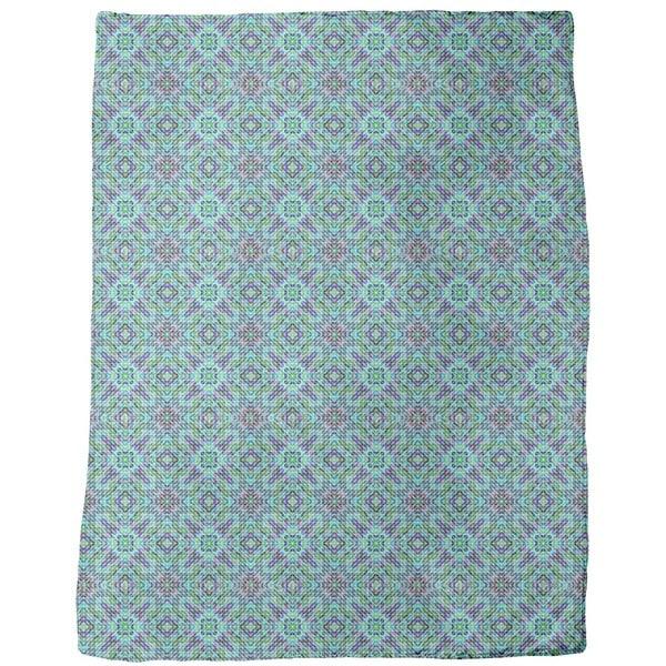 Mosaic Dimension Fleece Blanket