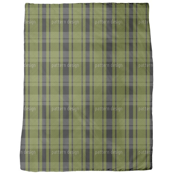 Tartan Black Green Fleece Blanket