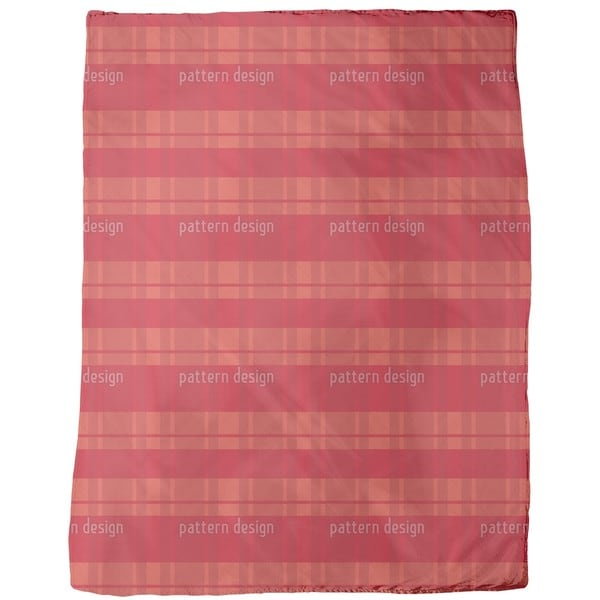 Tartan Red Fleece Blanket