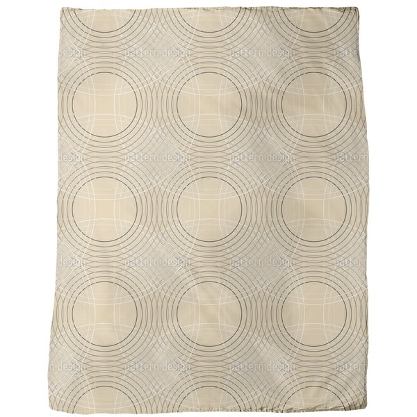 Vertigo Beige Fleece Blanket