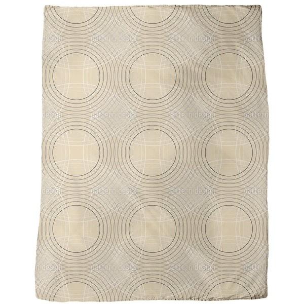 Vertigo Beige Fleece Blanket