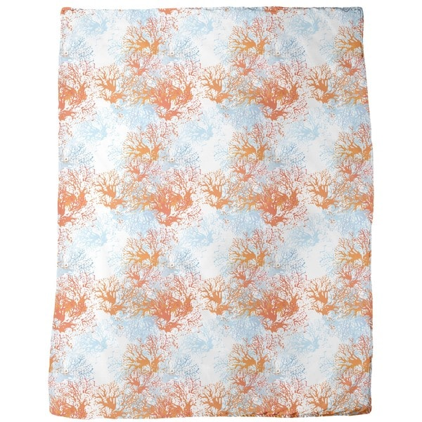 Coral Garden Fleece Blanket