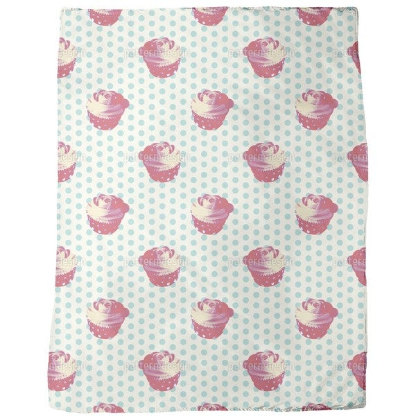 Cupcake Baby Fleece Blanket