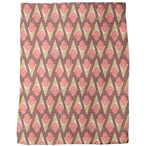 Crazy About Strawberry Ice Cream Fleece Blanket