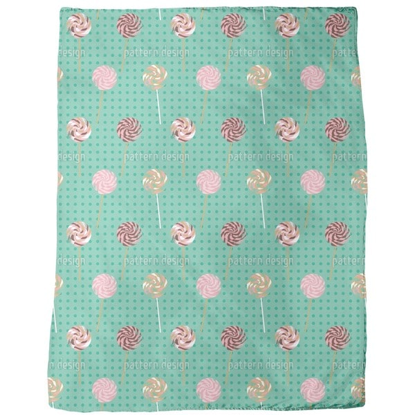 Lollipop Polka Dot Fleece Blanket