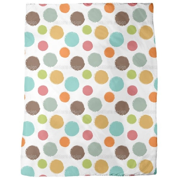 Ice Cream Scoops Fleece Blanket