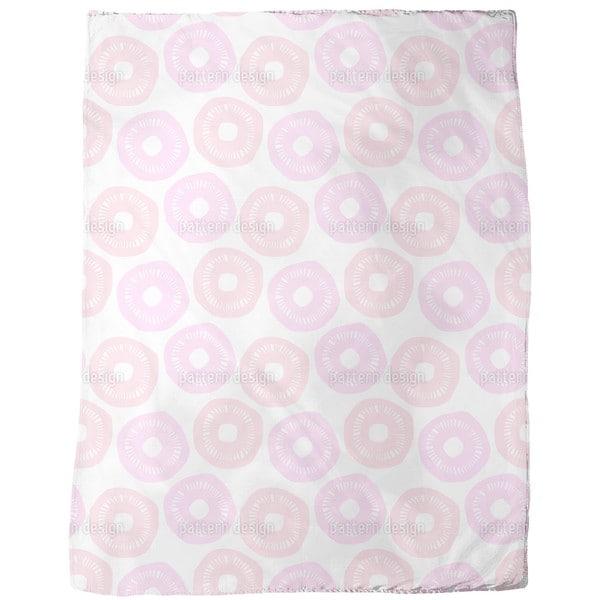 Sunshine Pink and Lavender Fleece Blanket