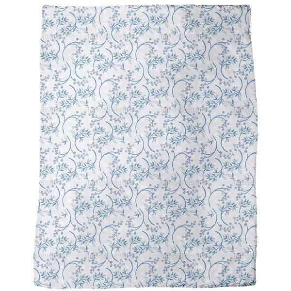Blueberry Blue Fleece Blanket