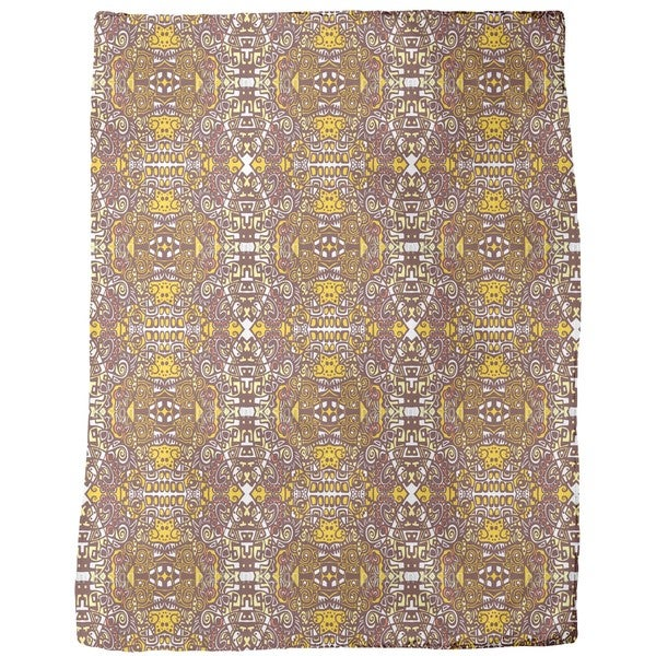 In the Aztec Temple Fleece Blanket