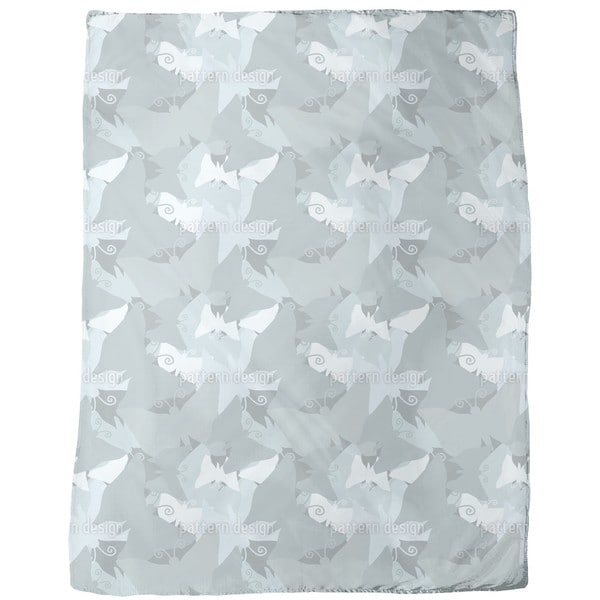 The Journey of the Blue Butterflies Fleece Blanket