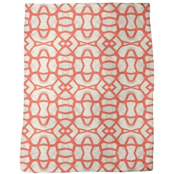 Red Coral Fleece Blanket