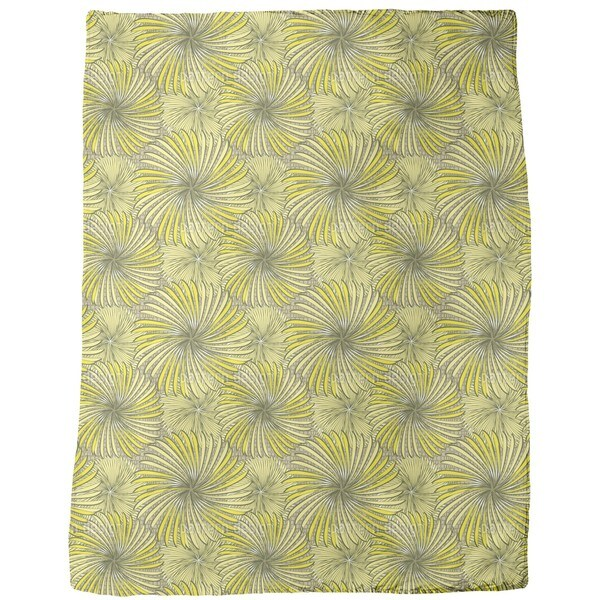 Turning Wheels Yellow Fleece Blanket