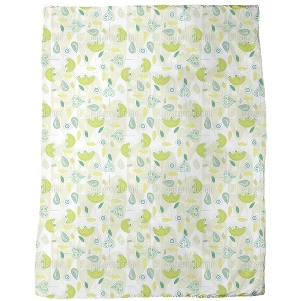 Yellow Dance Fleece Blanket