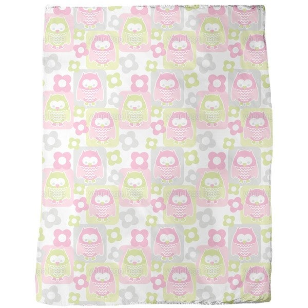 Cute Owls Fleece Blanket