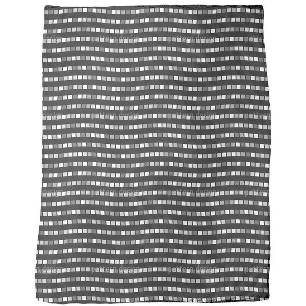 City Whisper in Black Fleece Blanket