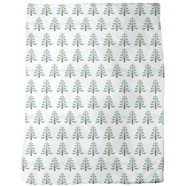 Frosty Wood Fleece Blanket