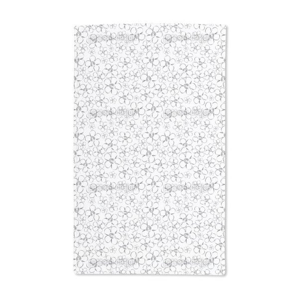 Flower Sketches Hand Towel (Set of 2)