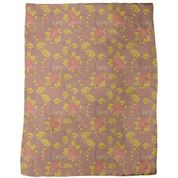 Bouquet Mocca Fleece Blanket