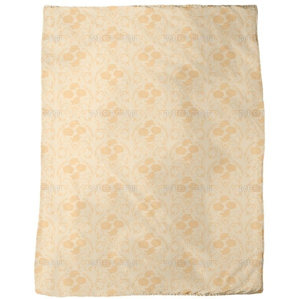 Rose Orange Fleece Blanket