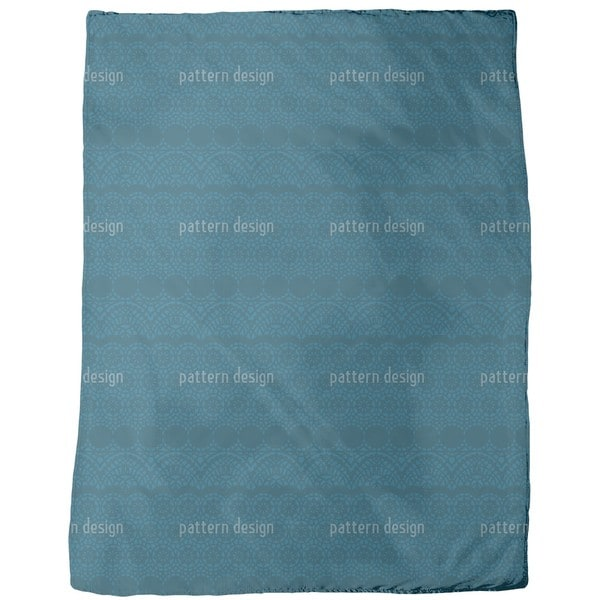Alhambra Petrol Fleece Blanket