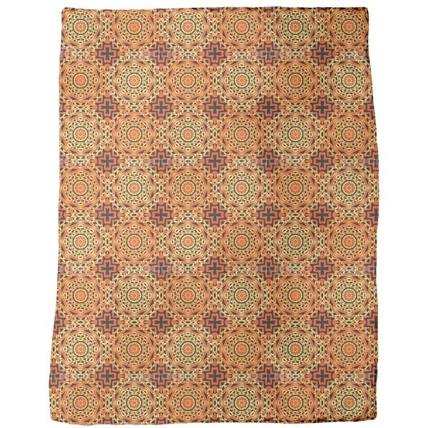 Orient Express Rossettes Fleece Blanket