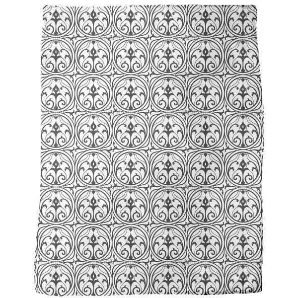 Loretta Black White Fleece Blanket