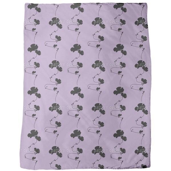 Shadow Play Purple Fleece Blanket