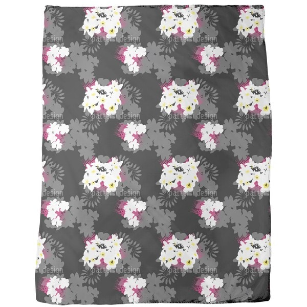 Beach Flowers Fleece Blanket