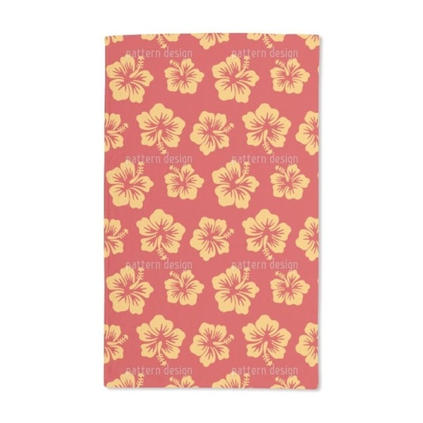 Hibiscus Greetings From Hawaii Hand Towel (Set of 2)