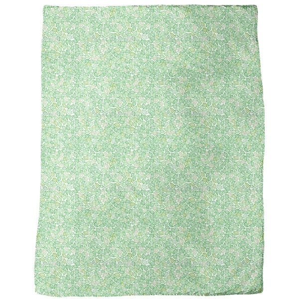 Covered with Leaves Fleece Blanket