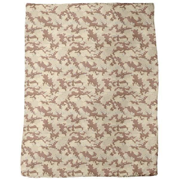 Old School Desert Camouflage Fleece Blanket