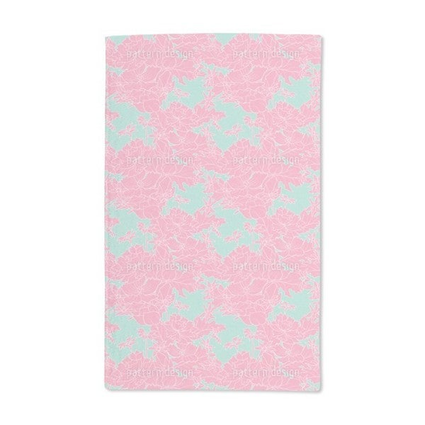 Vintage Flowers Pink Hand Towel (Set of 2)