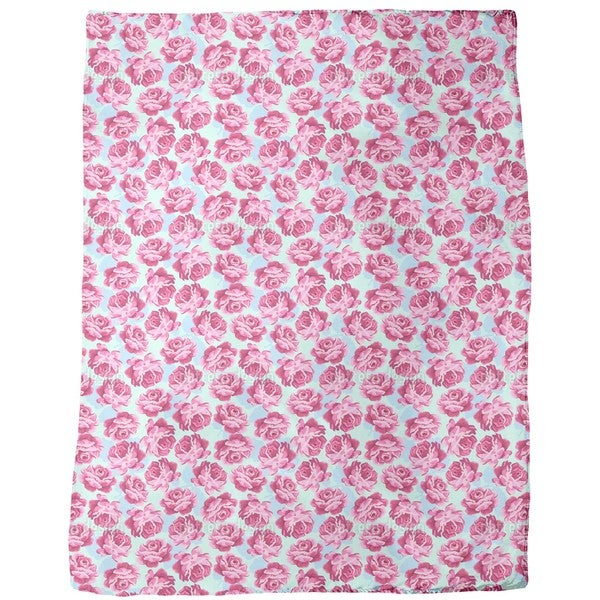 Lovely Rose Fleece Blanket