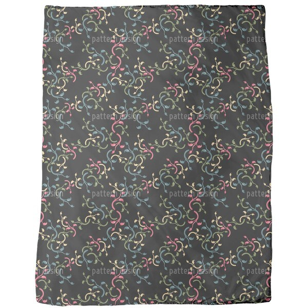 Flower Choral Fleece Blanket