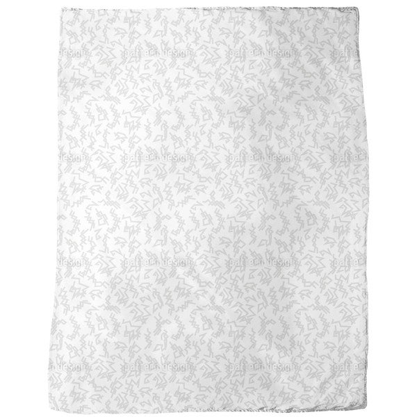 Trigger White Fleece Blanket