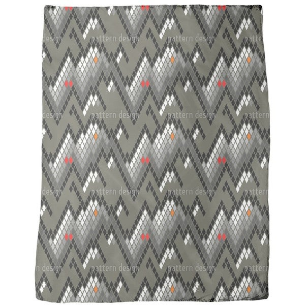 Checkered Mountain High Fleece Blanket