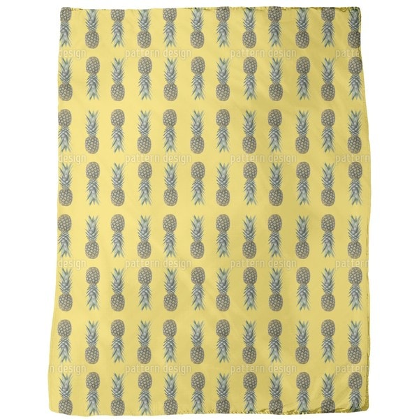 Pineapples From Brazil Fleece Blanket