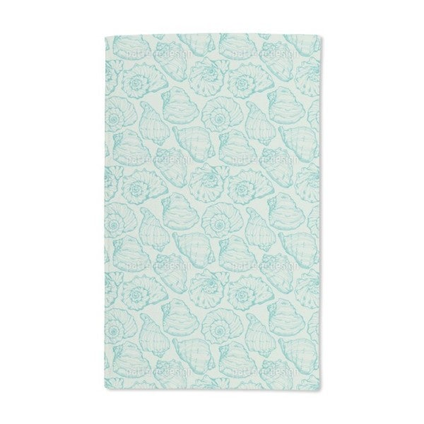 Shellfish Aqua Hand Towel (Set of 2)
