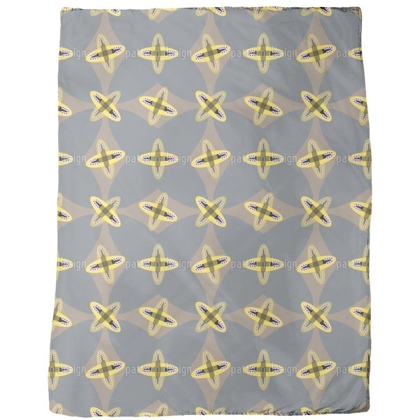 Crossed Ovals Fleece Blanket