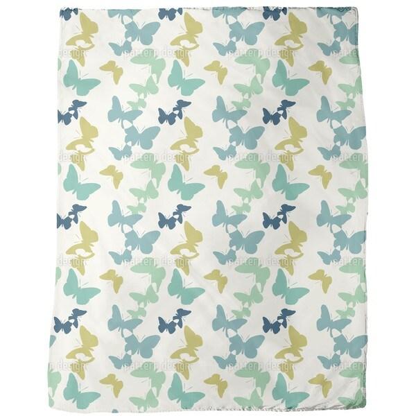 Time of the Butterflies Vintage Fleece Blanket