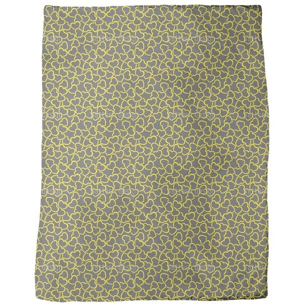 Heart Flood Fleece Blanket
