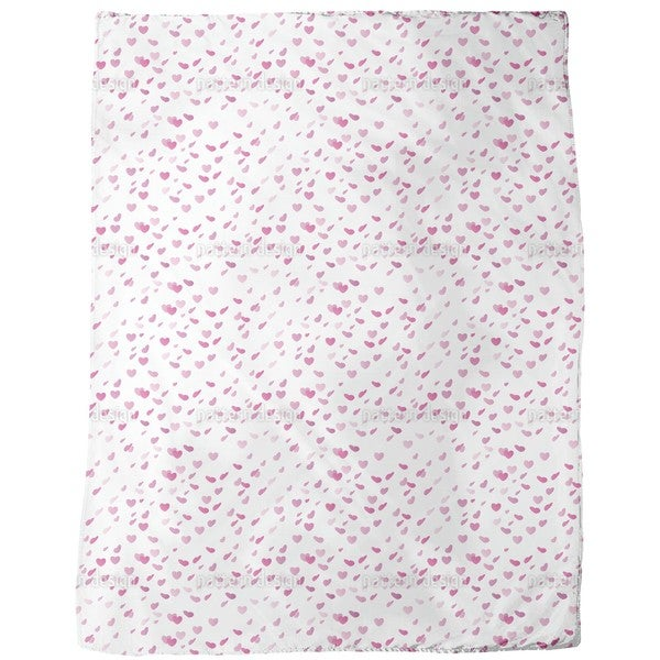 Hearty Rain on Valentines Day Fleece Blanket