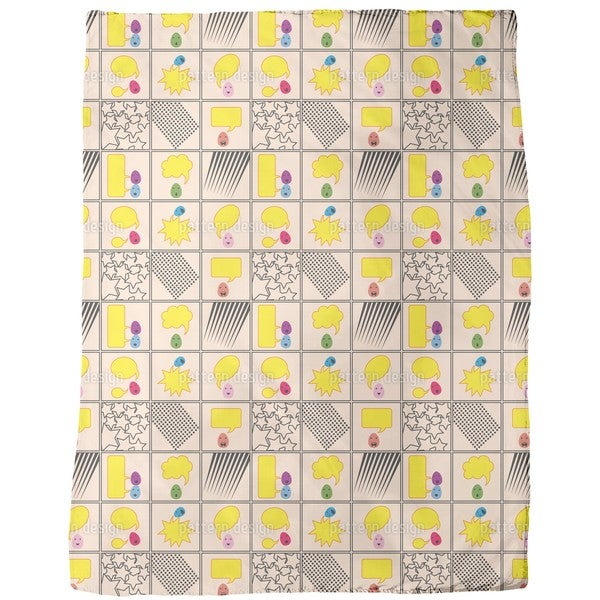 Talking Eggs Fleece Blanket