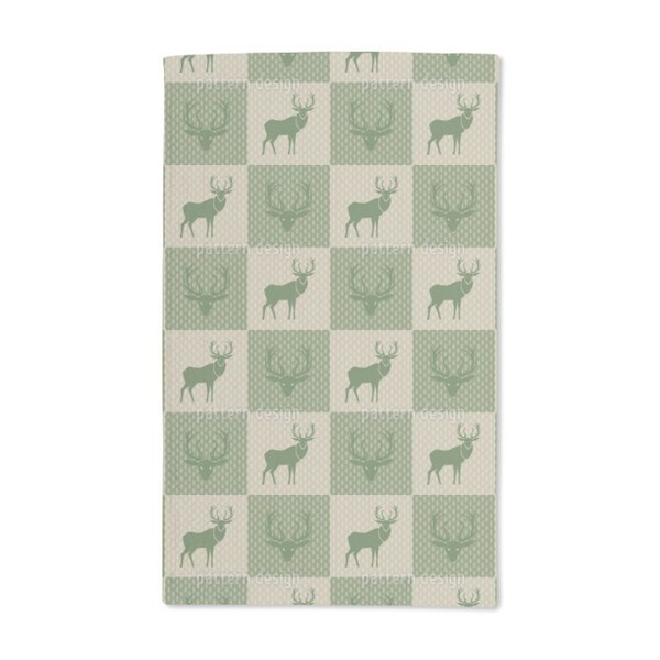 The Forest King Green Hand Towel (Set of 2)