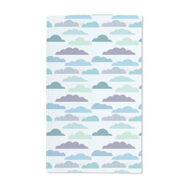 Cloudy Patchwork Hand Towel (Set of 2)